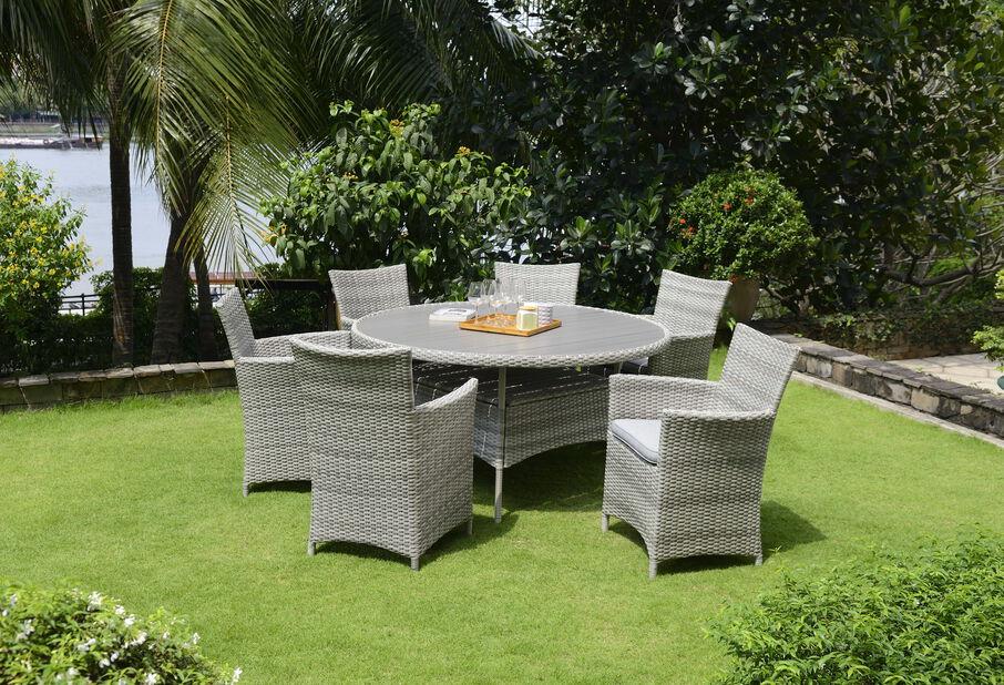 Spisegruppe Aruba, 4 sitteplatser, Beige