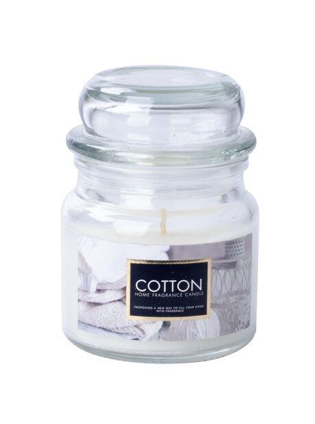 Duftlys Fresh Cotton, Høyde  8.6 cm, Hvit