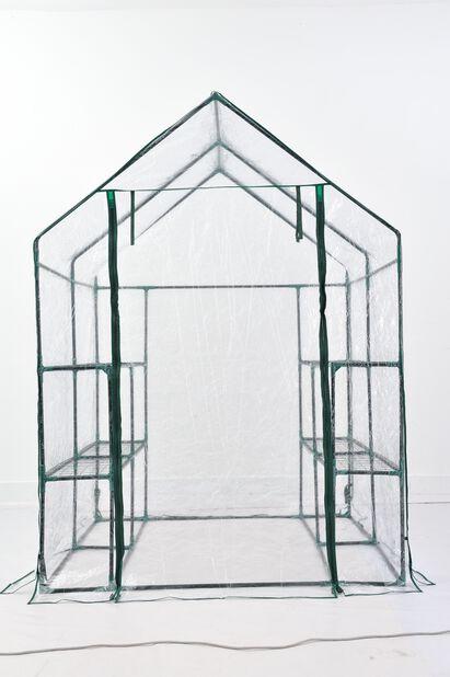 Drivhus flyttbart, Høyde 195 cm, Transparent