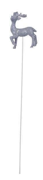 Stick med reinsdyr, Høyde 5 cm, Rød