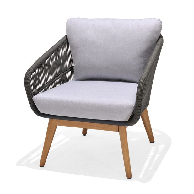 Sofagruppe Ameland Rope 1+1+2, 4 sitteplatser, Grå