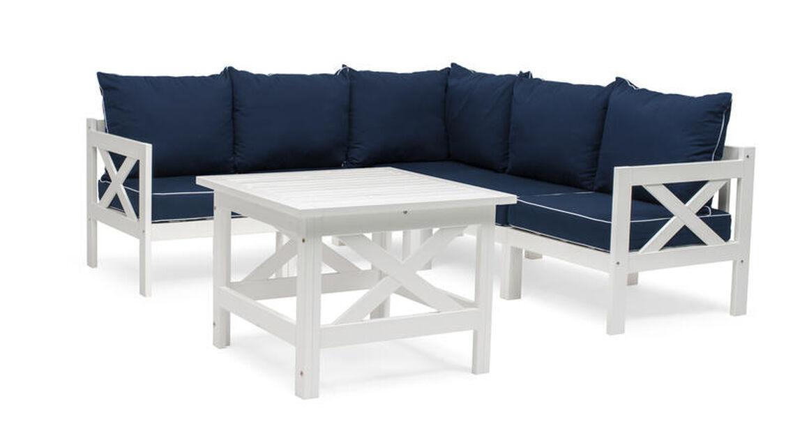 Sofagruppe Läckö , 5 sitteplatser, Hvit