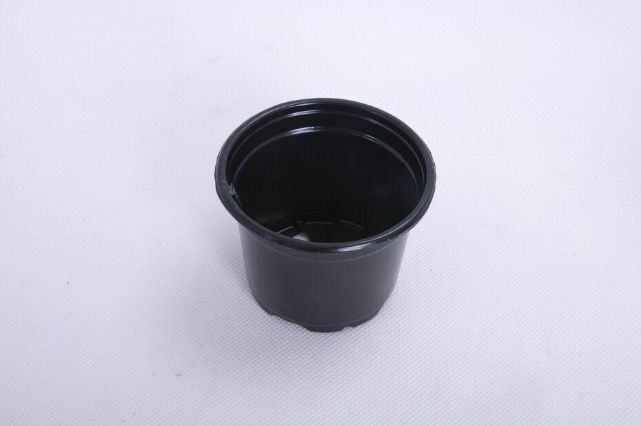 Plastpotte rund, 10-pk., Ø9.5 cm, Svart