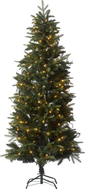 Kunstig juletre Narvik med lys, Høyde 210 cm, Grønn