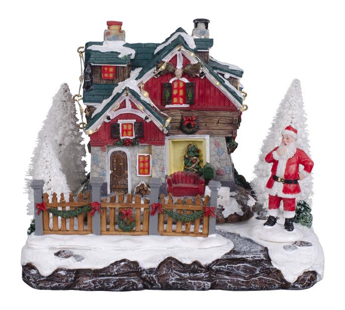 Julehus julenissemotiv, Flerfarget