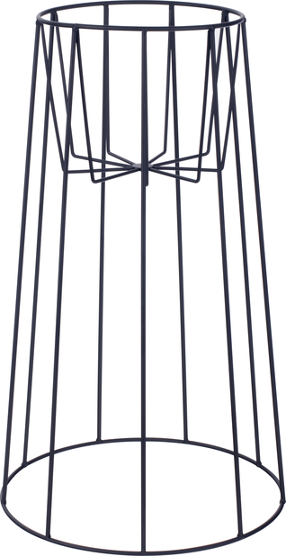 Pidestall Danny, Høyde 55 cm, Svart