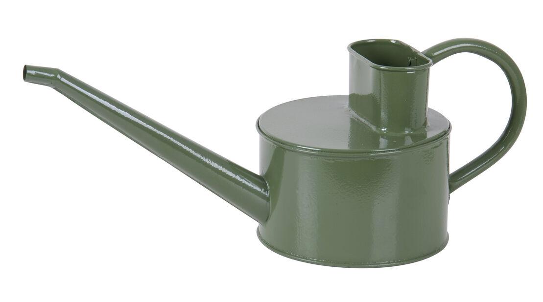 Vannkanne galvanisert 1,5l oval m.grønn
