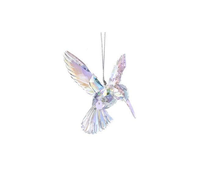 Juletrepynt Kolibri, Høyde 13 cm, Transparent