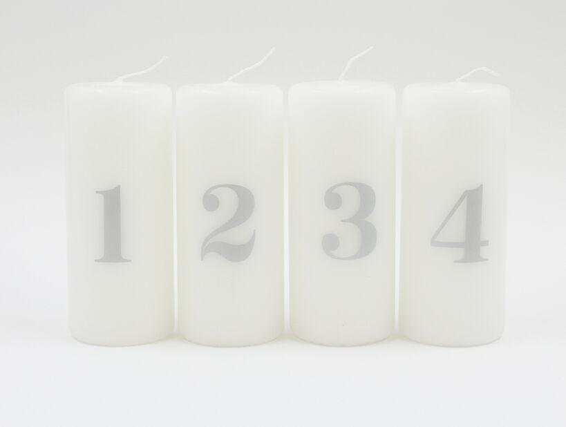 Adventslys , Høyde 12 cm, Flerfarget