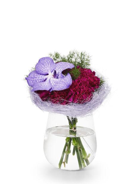 Vase Wilma h 19 cm  transparent