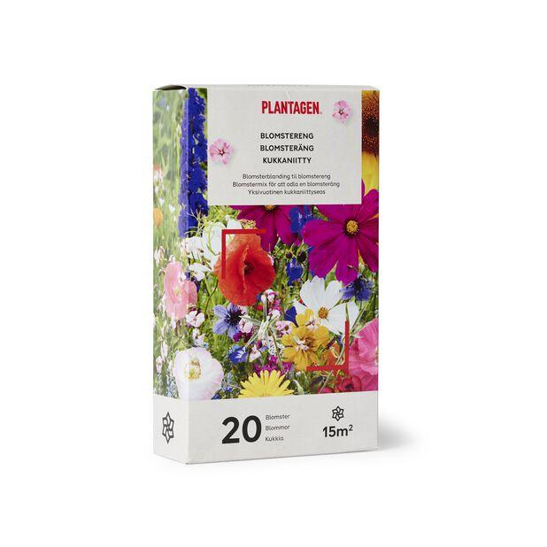 Blomstereng, 15 m2, Flerfarget