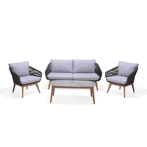 Loungesett Ameland, 4 sitteplatser, Grå