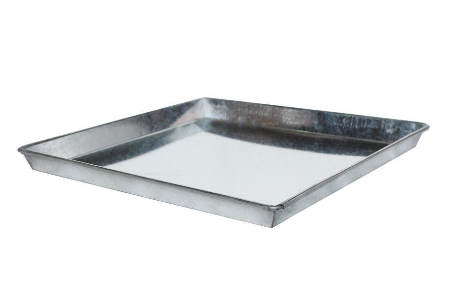 Fat Zink firkantet , Ø26 cm, Grå
