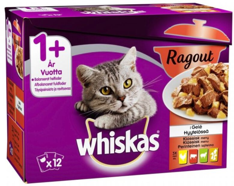 Whiskas Ragout 1+ Klassisk meny, 1 kg