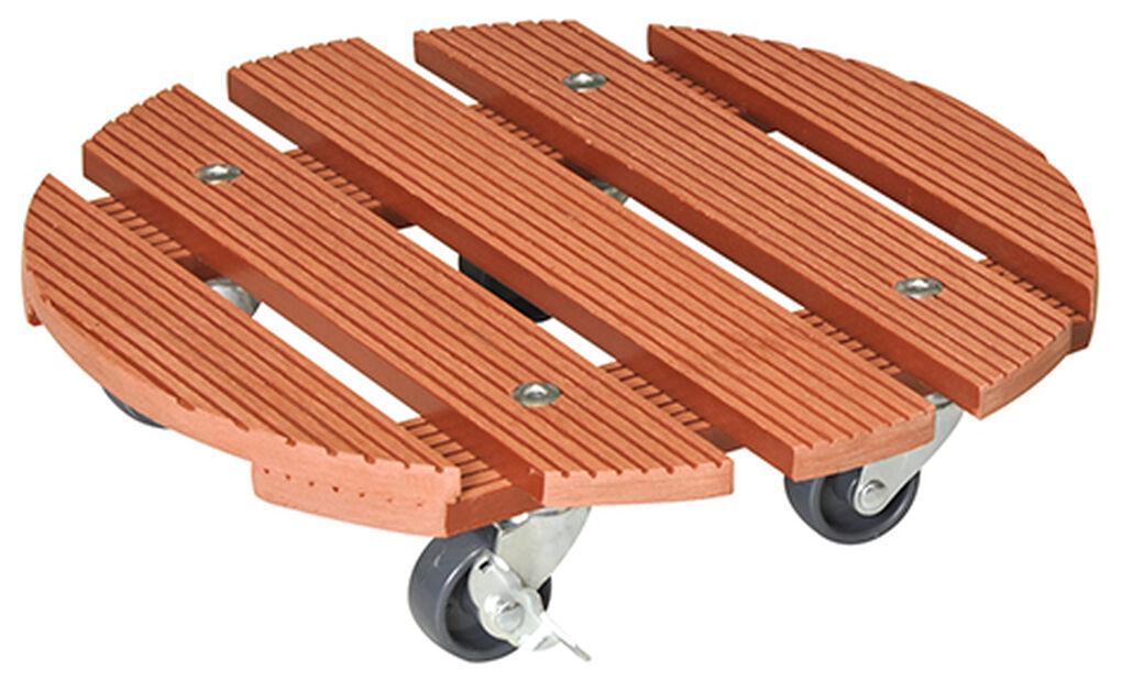 Potteunderlag med hjul Multi Roller, Ø29 cm, Terrakotta