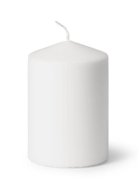 Blokklys, Høyde 10 cm, Hvit