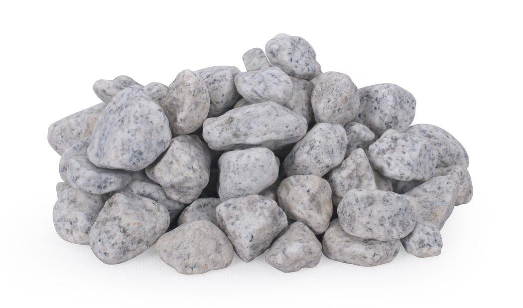Dekorstein granitt, 10 kg, Grå