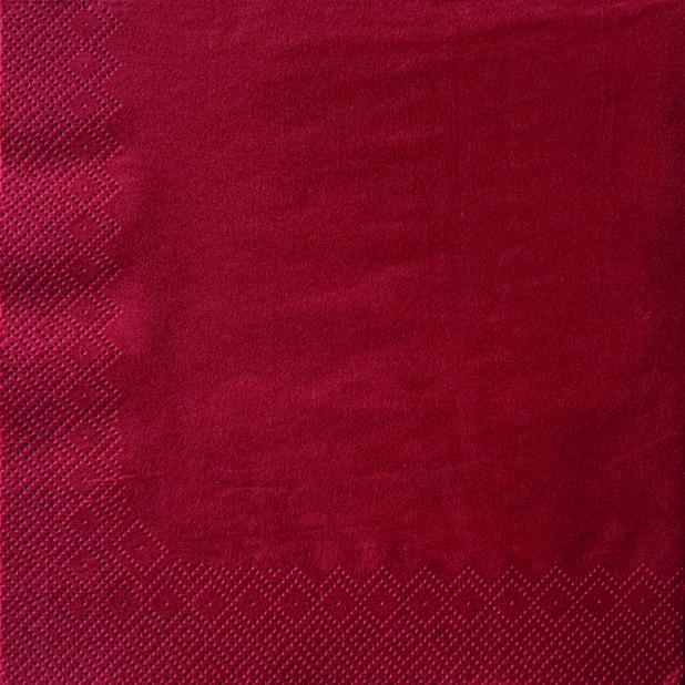 Juleservietter Røde, Ø40 cm, Rød