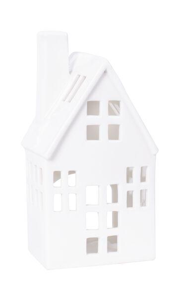Lyshus, Høyde 12 cm, Hvit