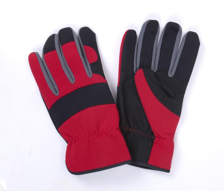 Hanske rød/sort medium