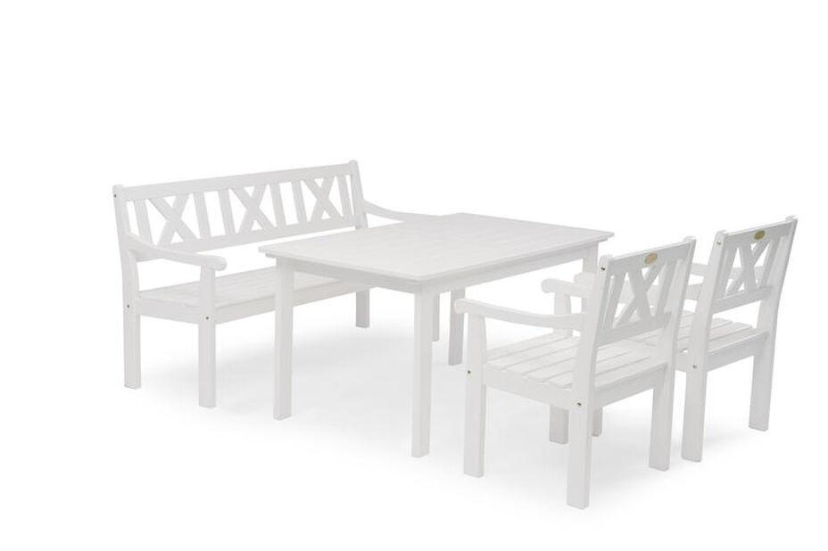 Spisegruppe Läckö , 4 sitteplatser, Hvit