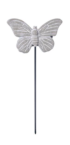 Dekorasjonspinne sommerfugl, Lengde 12 cm, Grå