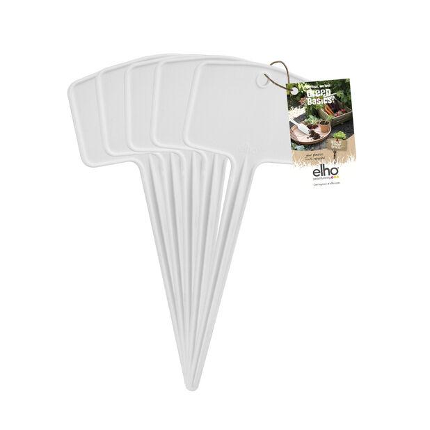 Planteetiketter Green Basics S 5-pack, 5 pk, Hvit