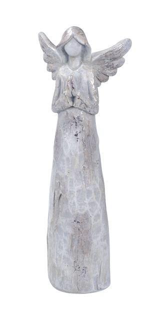 Dekorasjon Engel, Høyde 18 cm, Sølv
