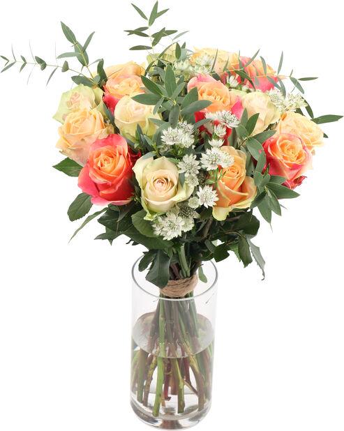 Bukett 'Pretty roses', Høyde 50 cm, Flerfarget