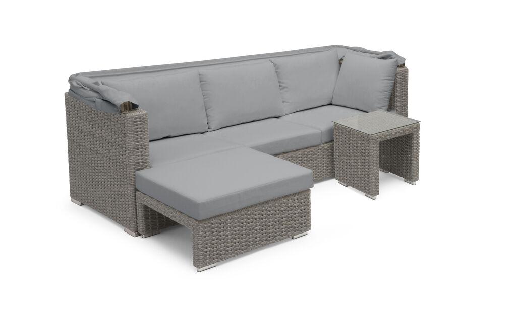 Sofagruppe Hobart , 4 sitteplatser, Grå