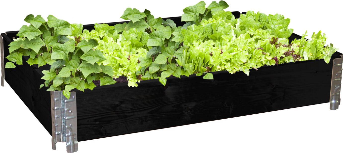 Plantekasse, Lengde 120 cm, Svart