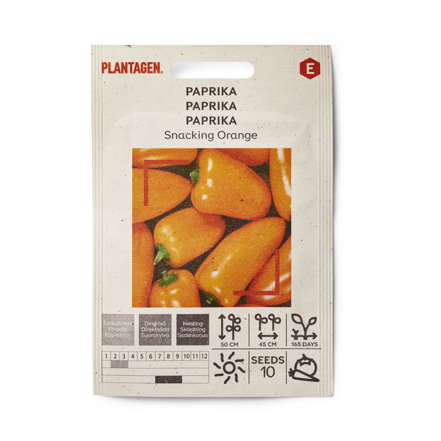 Paprika 'Snacking Orange', Flerfarget