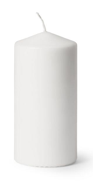Blokklys, Høyde 14 cm, Hvit