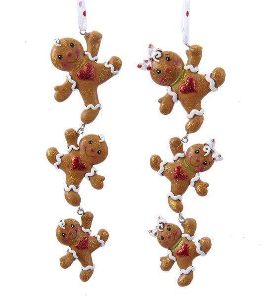 Juletrepynt Pepperkakefigurer, Høyde 17 cm, Flerfarget