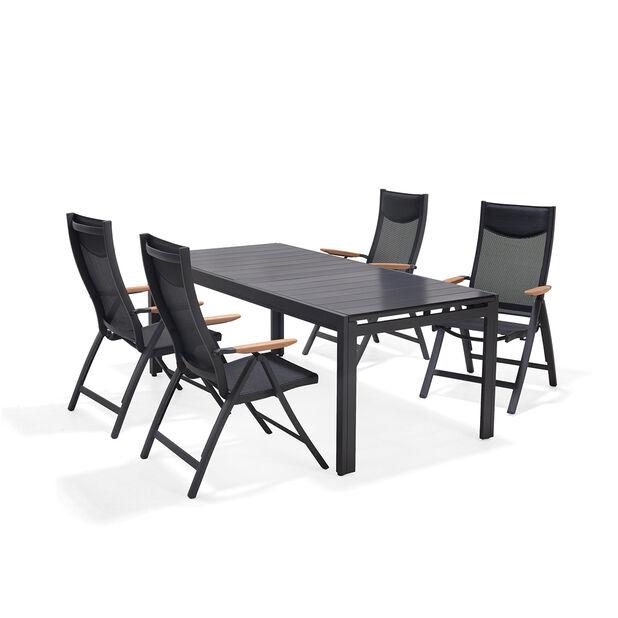 Spisegruppe Lima, 4 sitteplatser, Grå