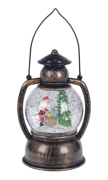 LED-lykt snømann, Høyde 22 cm, Gull