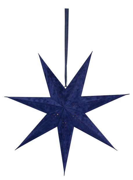 Fløyelsstjerne 7-armet, Blå