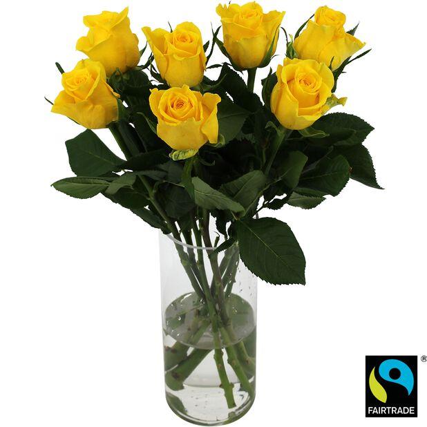 Roser 7pk, Høyde 50 cm, Gul