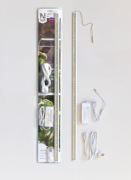 Plantelys LED No.1 85cm 23W med adapter, Lengde 80 cm, Hvit