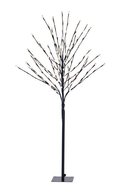 Kunstig juletre med LED-belysning, Lengde 120 cm, Svart
