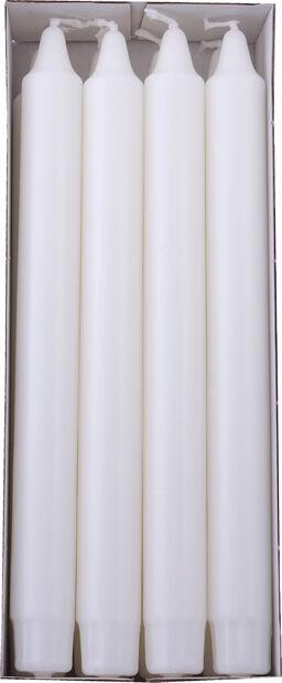 Kronelys 8 pk, Lengde 24 cm, Hvit
