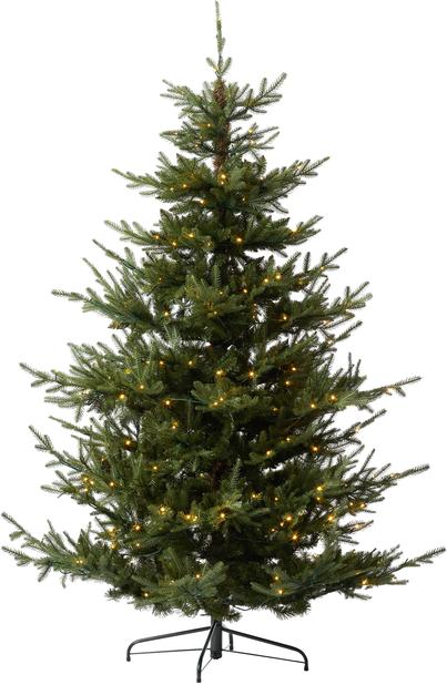 Kunstig juletre Langfjella med lys, Høyde 210 cm, Grønn