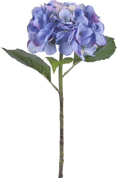 Hortensia snitt kunstig, Høyde 51 cm, Blå
