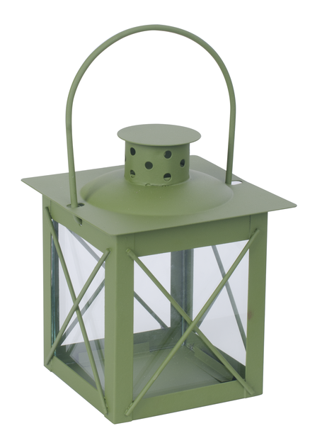 Lykt Pia, Høyde 13 cm, Grønn