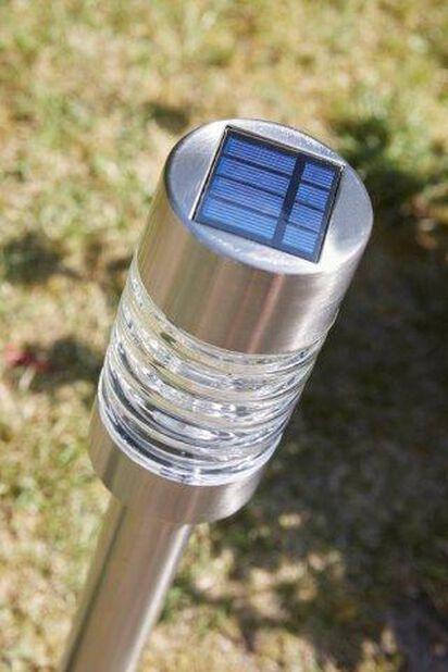 Solcelledrevet lysarmatur Torino, Høyde 58 cm, Sølv