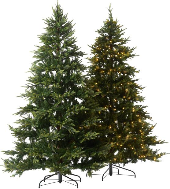 Kunstig juletre Uvdal med lys, Høyde 210 cm, Grønn