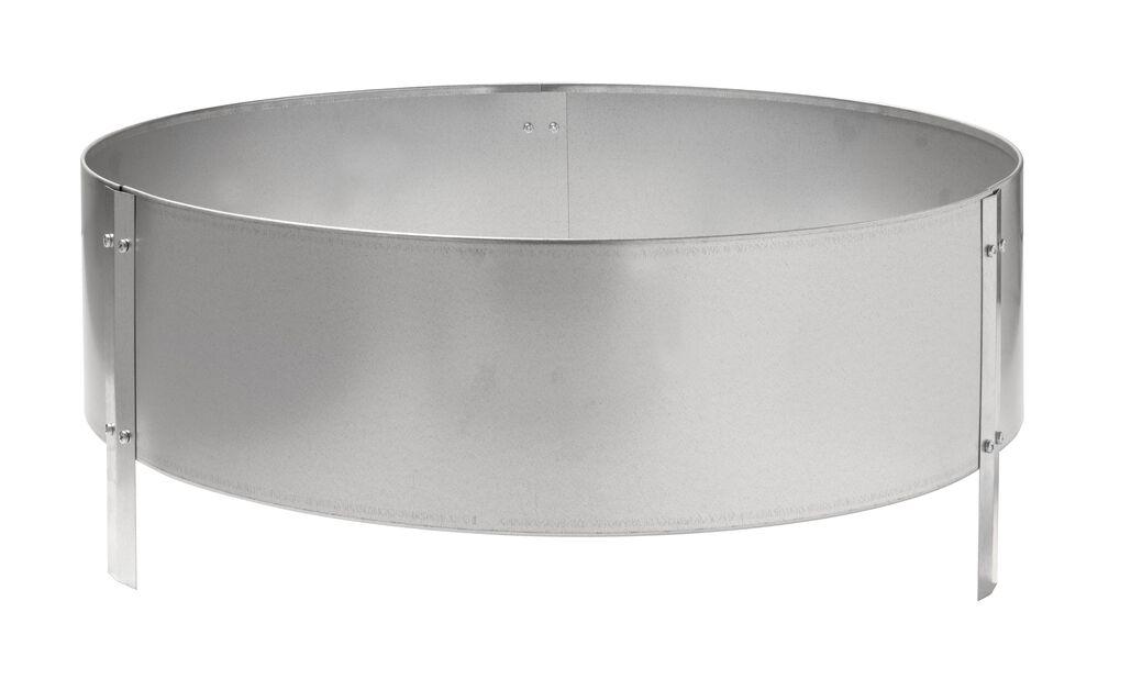 Dyrkekasse i ubehandlet jern, Ø60 cm, Grå