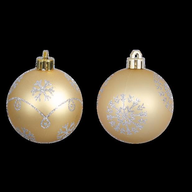 Julekuler 4 pk, Ø6 cm, Gull
