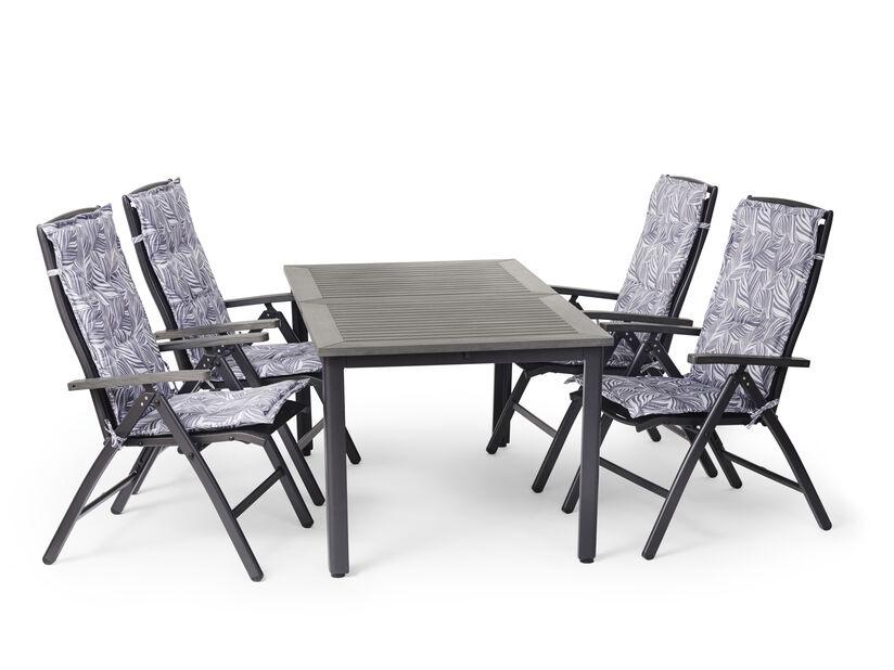 Spisegruppe Ammi, 4 sitteplatser, Grå