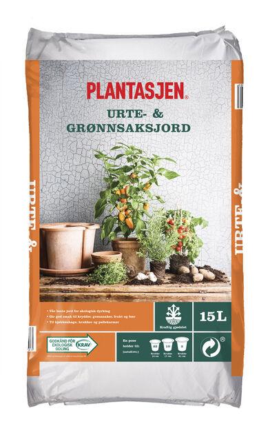 Urte- og grønnsaksjord KRAV, 15 L